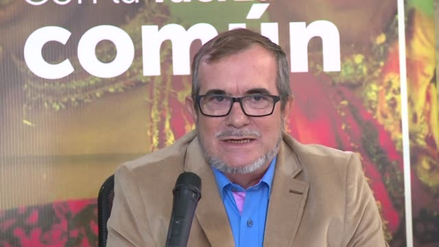 rodrigo londono the leader and presidential candidate of the former colombian guerrilla group farc launched an sos wednesday to save the peace... - sos stock videos and b-roll footage