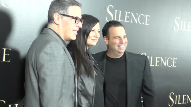 rodrigo prieto emma tillinger randall emmett at the premiere of paramount pictures' 'silence' on january 05 2017 in los angeles california - paramount pictures stock videos & royalty-free footage