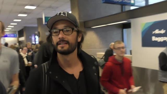 Rodrigo Santoro arriving to the Sundance Film Festival at Salt Lake City Airport in Utah in Celebrity Sightings in Park City UT