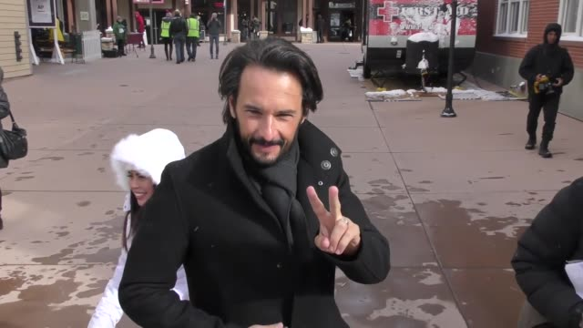 Rodrigo Santoro on Main Street at the Sundance Film Festival in Celebrity Sightings in Park City UT