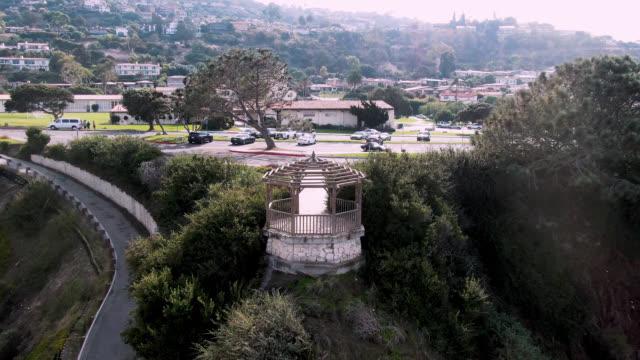 roessler point gazebo - palos verdes stock videos & royalty-free footage