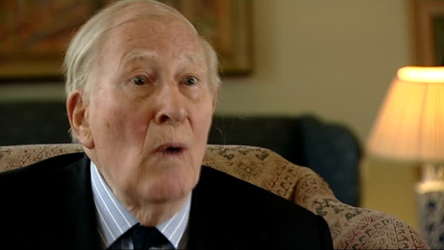 roger bannister interview int bannister interview sot - bannister stock videos & royalty-free footage