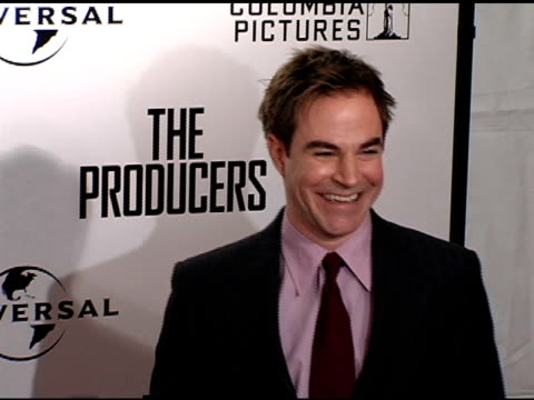 Roger Bart at the New York Premiere of 'The Producers' at the Ziegfeld Theatre in New York New York on December 4 2005