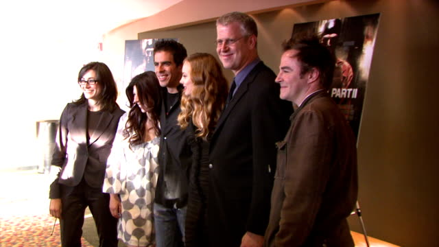 roger bart, heather matarazzo, eli roth, bijou phillips, and guests at the 'hostel 2' screening at 42nd street amc in new york, new york on june 6,... - bijou phillips stock videos & royalty-free footage