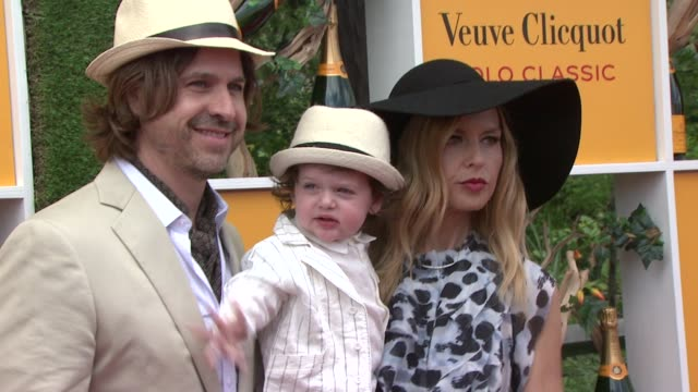 roger berman skyler berman and rachel zoe at the fifth annual veuve clicquot polo classic on 6/02/2012 in new york ny united states - 動物を使うスポーツ点の映像素材/bロール