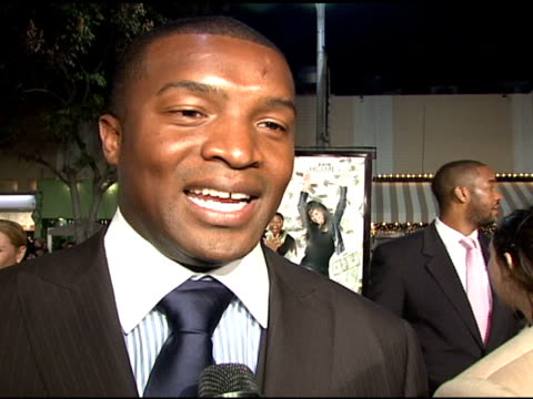 Roger Cross on his role and the film at the 'Mad Money' Premiere at the Mann Village Theatre in Westwood California on January 9 2008