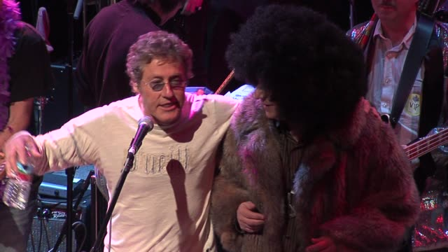 roger daltrey of the who at the rock n roll fantasy camp to benefit the teenage cancer trust at the house of blues in los angeles, california on... - roger daltrey stock videos & royalty-free footage