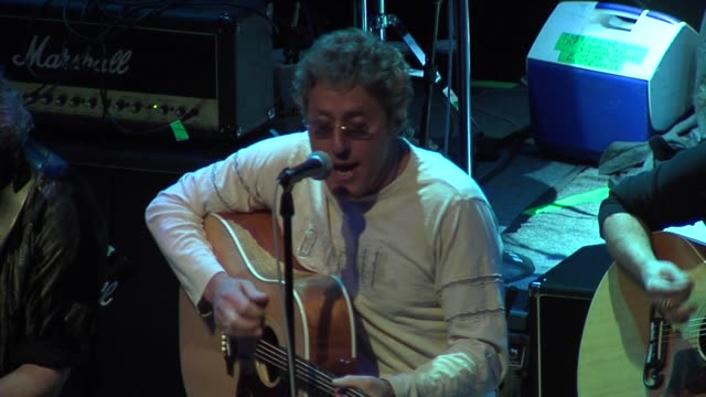 roger daltrey of the who, jack blades of night ranger, and neal schon of journey at the rock n roll fantasy camp to benefit the teenage cancer trust... - roger daltrey stock-videos und b-roll-filmmaterial