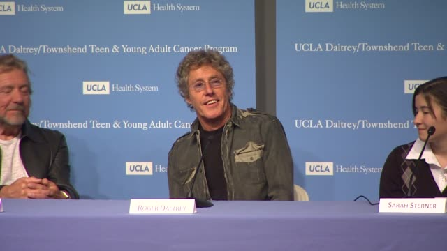 roger daltrey on pete townshend at the the ucla daltrey/townshend teen and young adult cancer program dedication at los angeles ca. - roger daltrey stock-videos und b-roll-filmmaterial