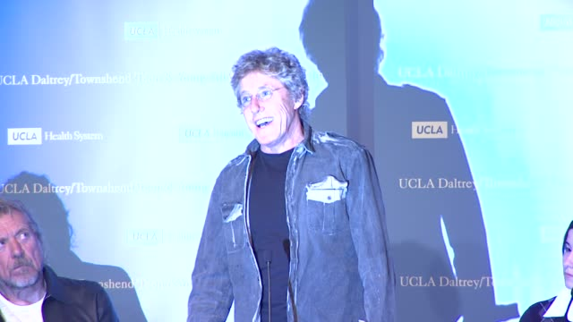 roger daltrey on the need for the program at the the ucla daltrey/townshend teen and young adult cancer program dedication at los angeles ca. - roger daltrey stock videos & royalty-free footage