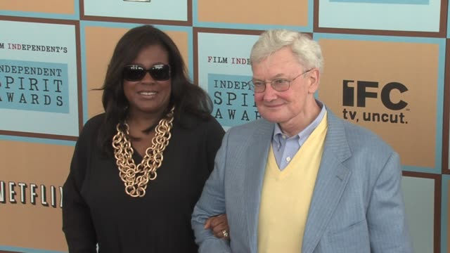 roger ebert and wife chaz hammelsmith ebert at the the 21st annual ifp independent spirit awards in santa monica california on march 4 2006 - ifp independent spirit awards stock videos and b-roll footage