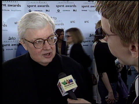 roger ebert at the 2003 ifp independent spirit awards on march 22 2003 - ifp independent spirit awards stock videos and b-roll footage