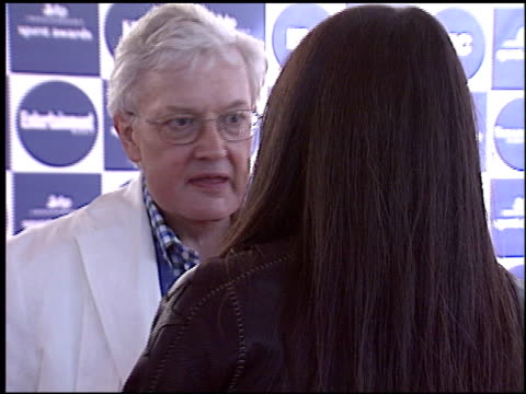 roger ebert at the independent spirit awards at santa monica pier in santa monica, california on february 28, 2004. - independent feature project video stock e b–roll