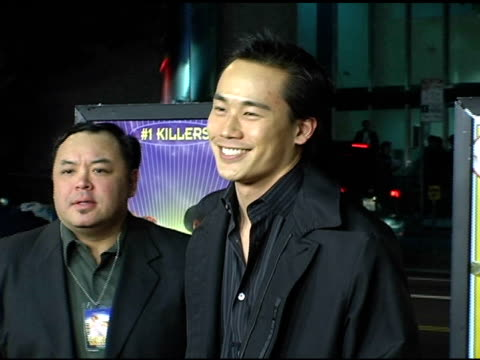 roger fan at the 'kung fu hustle' los angeles premiere at arclight cinemas in hollywood california on march 29 2005 - arclight cinemas hollywood stock videos and b-roll footage
