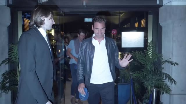 roger federer and rafael nadal seen leaving zela restaurant after night out with friends on june 27 2019 in london england - celebrity sightings stock videos & royalty-free footage