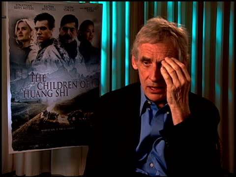 roger spoottiswoode on interviewing the characters and on the experience of hearing their stories at the 'the children of huang shi' press junket at... - four seasons hotel stock videos & royalty-free footage