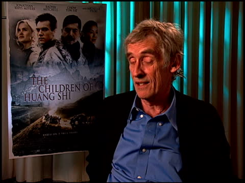 roger spoottiswoode on the hardest location to film at the 'the children of huang shi' press junket at the four seasons hotel in beverly hills,... - four seasons hotel stock videos & royalty-free footage