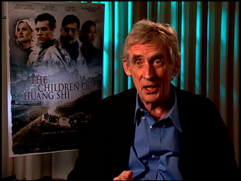 roger spoottiswoode on the most challenging part of making the movie at the 'the children of huang shi' press junket at the four seasons hotel in... - four seasons hotel stock videos & royalty-free footage