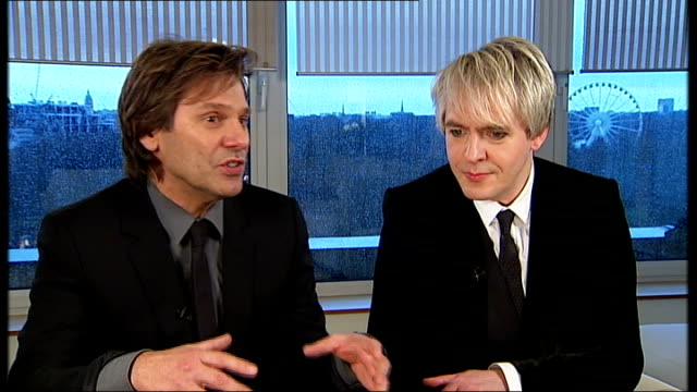 roger taylor and nick rhodes interview sot you drift away from where you came from over the years other bands jumped into the space we once occupied... - nick rhodes stock videos & royalty-free footage