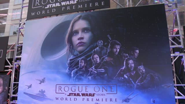 atmosphere rogue one a star wars story world premiere at the pantages theatre on december 10 2016 in hollywood california - star wars stock videos & royalty-free footage