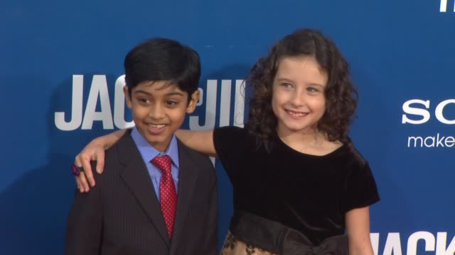 rohad chand and elodie tougne at the 'jack and jill' world premiere at westwood ca - ウェストウッド地区点の映像素材/bロール