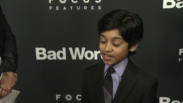 interview rohan chand on working with jason bateman on his favorite word that he learned on his love for spelling bees now at bad words los angeles... - educational subject stock videos and b-roll footage
