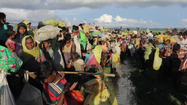 rohingya exodus - emigration and immigration点の映像素材/bロール