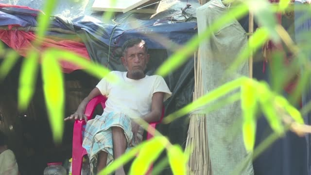 Rohingya Muslim refugees who set up camp in a no man's land between Bangladesh and Myanmar express worry for their safety after witnessing fresh...