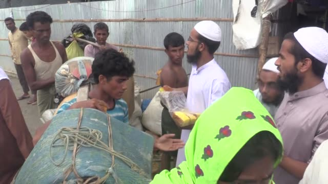 cox's bazar bangladesh september 11 rohingya muslims fled from ongoing military operations in myanmar's rakhine state make their way to enter... - cox's bazar stock videos & royalty-free footage