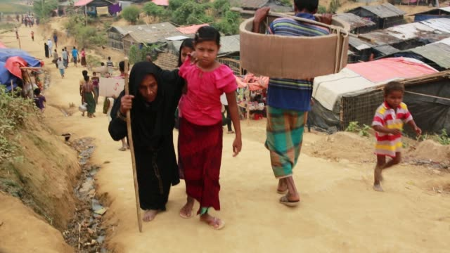 COX'SBAZAR BANGLADESH NOVEMBER 28 Rohingya Muslims fled from ongoing military operations in Myanmar's Rakhine state leading life inside refugee camp...
