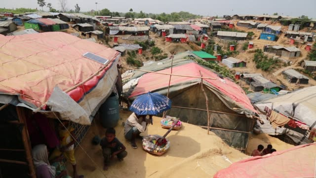COX's BAZAR BANGLADESH MAY 04 Rohingya Muslims fled from ongoing military operations in Myanmar's Rakhine state leading life at refugee camp at Cox's...