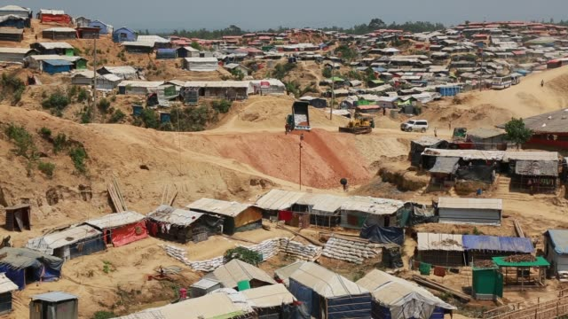 rohingya muslims, fled from ongoing military operations in myanmar's rakhine state, leading life at refugee camp at cox's bazar , bangladesh on may... - mass murder stock videos & royalty-free footage