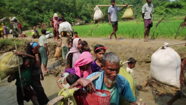 cox's bazar bangladesh september 5 rohingya muslims who fled their homes due to the ongoing operations conducted by myanmar's security forces in... - cox's bazar stock videos & royalty-free footage