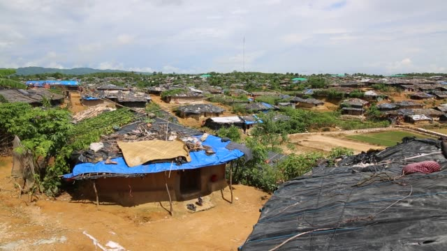 rohingya people, fled from ongoing military operation in myanmar rakhain state, entered bangladesh and staying in no man's land in cox.s bazaar in... - mass murder stock videos & royalty-free footage