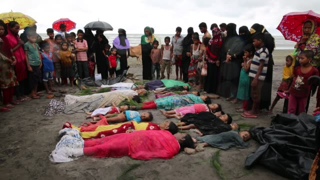 cox's bazar bangladesh september rohingya people fled from ongoing military operation in myanmar rakhain state capsize boat and children died at... - genocide stock videos & royalty-free footage