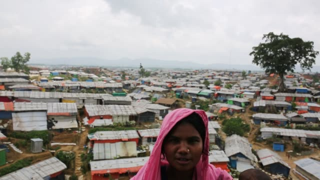 rohingya people seen inside refugee camp in cox's bazaar , bangladesh on august 04, 2018. - rohingya culture stock videos & royalty-free footage