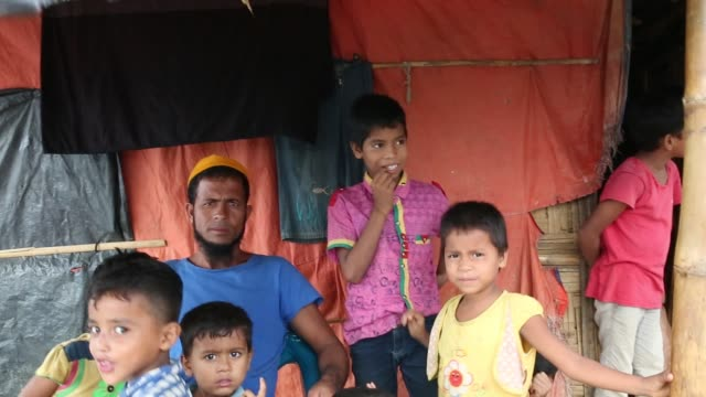 Rohingya people seen inside refugee camp in Cox's Bazar Bangladesh on August 04 2018