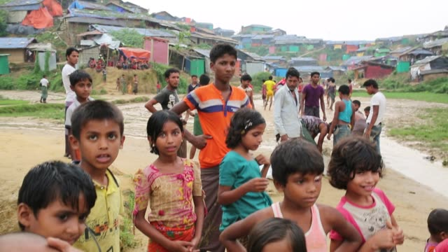 rohingya people seen inside refugee camp in cox's bazar , bangladesh on august 04, 2018. - rohingya culture stock videos & royalty-free footage