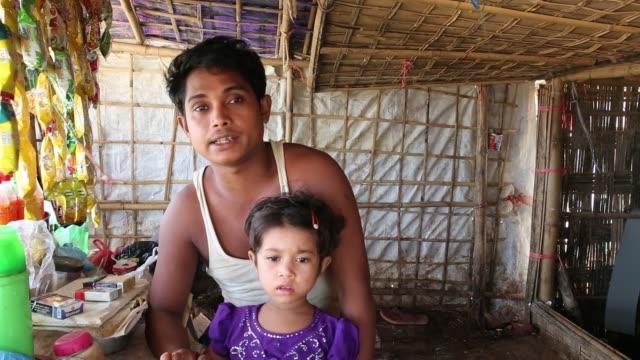 stockvideo's en b-roll-footage met cox's bazar bangladesh august 04 rohingya people seen inside refugee camp in cox's bazar bangladesh on august 04 2018 - human interest