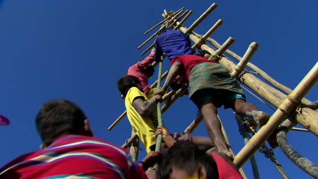 Rohingya refugees working on a camp in Bangladesh