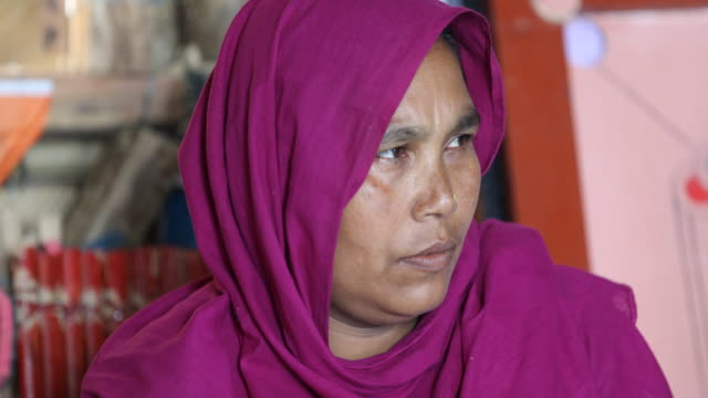 rohingya woman, wearing a hijab during an educational event of an ngo in the camp. refugee camp of the rohingyas near cox's bazar in bangladesh in... - educational event stock videos & royalty-free footage