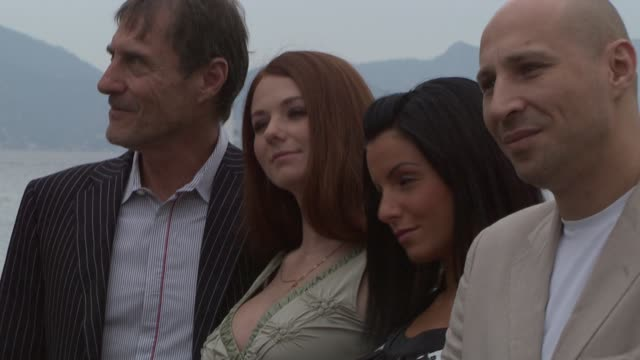 Roland Joffe Lena Katina Yulia Volkova and Aleksandr Byelonogov at the Cannes photocall and interviews for 'You and I' in Cannes on May 16 2008
