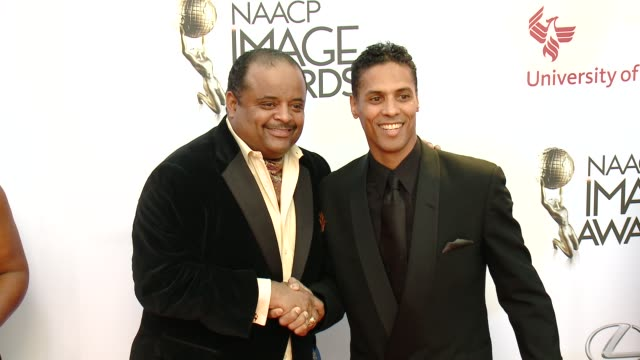stockvideo's en b-roll-footage met roland martin at the 46th annual naacp image awards arrivals at pasadena civic auditorium on february 06 2015 in pasadena california - pasadena civic auditorium