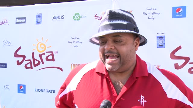 roland martin on being a part of the afternoon & his favorite person to play golf with at the 7th annual george lopez celebrity golf classic... - toluca lake stock videos & royalty-free footage