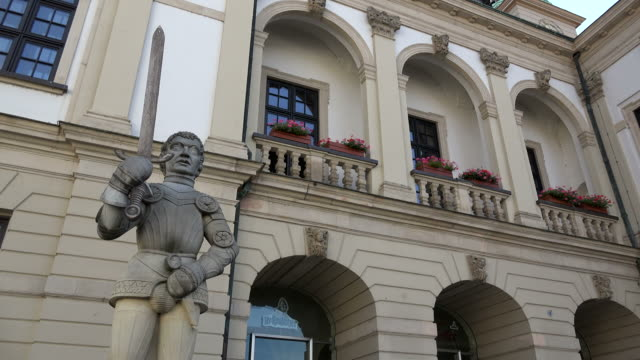 Roland Statue at Town Hall on Alter Markt Square, Magdeburg, Saxony-Anhalt, Germany