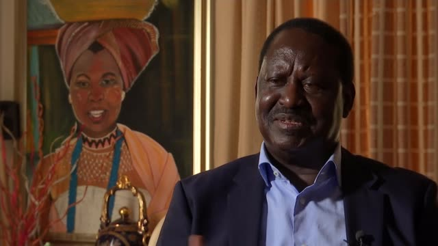 role of cambridge analytica and fake news in the presidential election kenya nairobi int raila odinga interview sot reporter - artificial stock videos & royalty-free footage