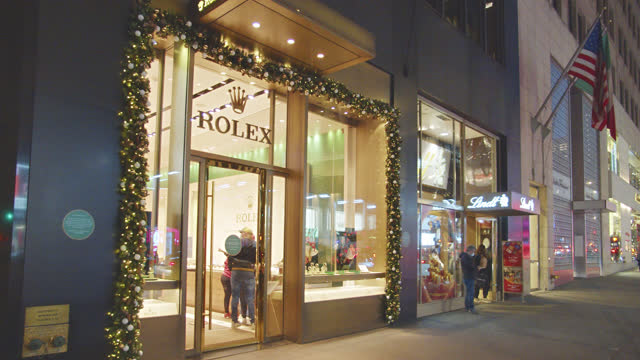 rolex. store. fifth luxury fashion avenue. manhattan. new york - fashion collection stock videos & royalty-free footage