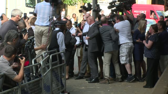 rolf harris arrives at southwark crown court for sentencing on 4th july 2014 in london england - rolf harris stock videos and b-roll footage