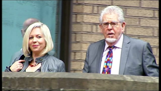 rolf harris found guilty of 12 counts of indecent assault t12051403 / tx southwark crown court harris and daughter bindi arriving at court holding... - rolf harris stock videos and b-roll footage