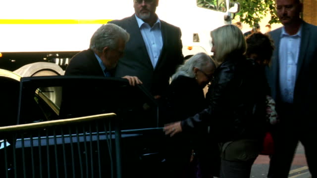 alleged victim gives evidence england london southwark crown court ext rolf harris out of car with wife alwen hughes and daughter bindi - rolf harris stock videos and b-roll footage